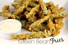 Green Bean Fries! Fresh green beans with a light crispy coating! Love it? Pin it to SAVE it! Follow Spend With Pennies on Pinterest for more great recipes! This recipe is simply delicious! Truly… it is super easy and makes a great side or appetizer! I like to serve it up with a side of …