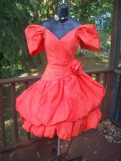 """VINTAGE 80s PROM PARTY DRESS """"UPTOWN GIRL"""" BEST IN SHOW S HIGH END"""