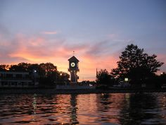 Portage Lakes, OH : Portage Lakes Clock Tower on photo . Cottage In The Woods, Lake Cottage, Life Is Beautiful, Beautiful Places, Oh My Home, Pictures Of The Sun, Portage Lakes, Boating Holidays, Cuyahoga Falls