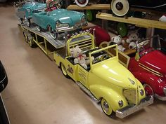 Custom '37 Ford gooseneck car hauler in our Museum - pedalcarmuseum.com