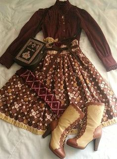 Good color-combo of browns lolita Style Lolita, Mode Lolita, Gothic Lolita, Kawaii Fashion, Lolita Fashion, Cute Fashion, Rock Fashion, Emo Fashion, Vintage Outfits