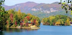 Lake Lure ~ Named one of the top 10 most beautiful man-made lakes in the world by National Geographic. Located about 27 miles from Asheville, Lake Lure sits in the Hickory Nut Gorge, surrounded by lush mountain tops and sheer granite cliffs. Look up to see the famous Chimney Rock. Lake Lure was a filming location for scenes from the movies Thunder Road, Dirty Dancing, A Breed Apart, Forrest Gump, The Last of the Mohicans, The Passion of the Christ and Firestarter.
