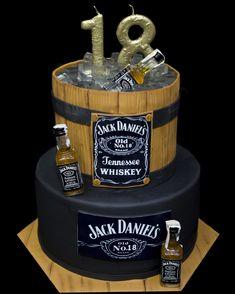 18 Birthday, Money Cake, Jack Daniels, Cake Ideas, Alcohol, Cakes, Party, Desserts, Food