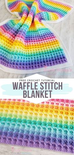 Waffle Stitch Free Tutorial Dear crocheters, we have a very important message for you today. It is surely the time to stop keeping the waffles in our kitchens and let them spread Crochet Ripple Blanket, Crochet Baby Blanket Free Pattern, Crochet Sheep, Crochet Afghans, Crochet Gratis, Afghan Crochet Patterns, Rainbow Crochet Blankets, Crochet Stitches Uk, Crotchet Blanket