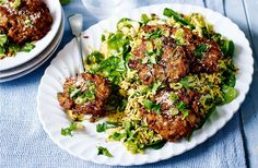 This delicious Indian rice salad with onion bhajis is packed with aromatic flavours. You can find lots more easy meals & Indian recipes at Tesco Real Food.