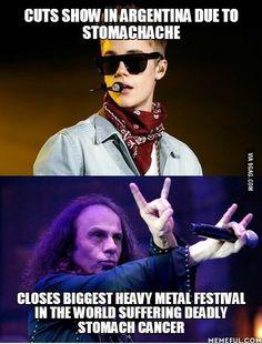 Justin Bieber & Ronnie James Dio
