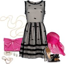 """""""Bows and Pearls"""" by sherry7411 on Polyvore"""
