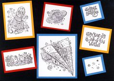 Stampin Up Out of This World retired stamp set