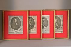 Lebrun, Corneille, Racine Et Vouet, Estampes, XVIIIe Siècle, Galerie Pellat de Villedon, Proantic
