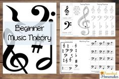 Basic Music Theory - 48-Page FREE Printable pack to teach basic music theory to your kids!