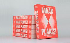 Maak Plaats: Editorial Design by Florian Mewes & Alfons Hooikaas Graphic Design Print, Graphic Prints, Editorial Layout, Editorial Design, Destination Branding, Buch Design, Print Layout, Grid Design, Book Cover Design