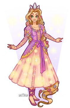 17 Ideas for drawing disney animals rapunzel Disney Princess Fashion, Disney Princess Rapunzel, Disney Tangled, Disney Magic, Punk Princess, Disney Disney, Rapunzel Flynn, Rapunzel Cosplay, Disney Cosplay