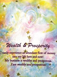 Wealth Prosperity - I easily experience an abundant flow of money into my life here and now! My business is wealthy and prosperous. I am wealthy and prosperous! Business Angels, Deep Images, Emoji Pictures, Angel Cards, Here And Now, Special Quotes, Daily Prayer, My Spirit, Self Help