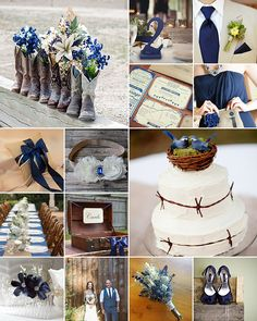 Rustic Navy Weddings { Country Drama }