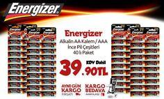 Energizer Akıllı Pil Çeşitleri 40'lı paket sadece 39.90 TL!! >> http://www.happy.com.tr/energizer