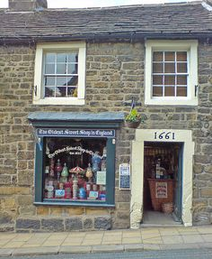 The oldest sweet shop in England, in the village of Pateley Bridge. The Places Youll Go, Places To See, Living In England, Shop Fronts, English Countryside, Shops, British Isles, Confectionery, The Good Place