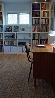 Efterbild Hanna Peters inredning. Bibliotek. Äntligen hemma