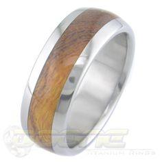 Titanium and Desert Ironwood Ring