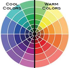 Warm Color Palette | Warm colors, located on the right side of this color wheel, can make a ...