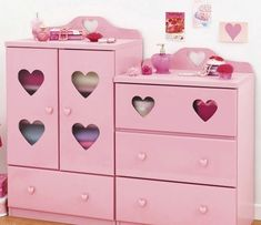 Adorable pink dresser I hope I can one                                                                                                                                                                                 More