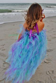 Goddess of the Ocean Sea Mermaid Long Style by sweethearttutus.