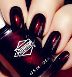 I Want This Color Nail Polish Diamond Cosmetics Cherry Fancy Nails, Love Nails, How To Do Nails, My Nails, Fabulous Nails, Gorgeous Nails, Pretty Nails, Nails Polish, Nail Polish Colors