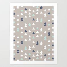 Little+Triangles+Art+Print+by+Amber+Barkley+-+$18.00