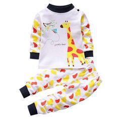 Unisex Thermal Long Sleeve Funky Top 2 Piece Cotton Pajama
