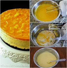 Easy No Bake Mango Cheesecake