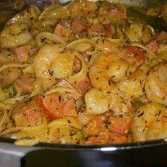 Cajun shrimp & sausage pasta
