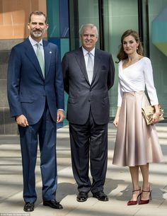 Prince Andrew, Duke of York plays host to the Spanish royals on the final day of their UK visit