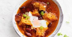 Mashed garlic adds another delicious depth of flavour to this spicy chorizo broth.