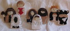 Nativity finger puppets.  These would be perfect for a church quiet bag activity.
