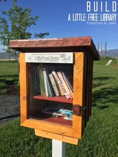 How to build a Little Free Library in your community. It's a great way to promote literacy and promote reading for kids! 14 little free library ideas!