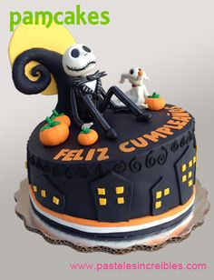 Jack Skellington, Mexican Sugar Skulls, Nightmare Before Christmas Cake, Pasteles Halloween, Chocolate Tree, Eat Me Drink Me, Recipe From Scratch, Holiday Cakes, Tim Burton