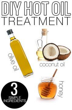 DIY Natural Hot Oil Hair Treatment   Beauty   Meg O. on the Go