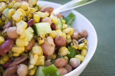 Roasted Corn and Bean Salad | All recipes with Trader Joes products for easy, quick, healthy meal ideas