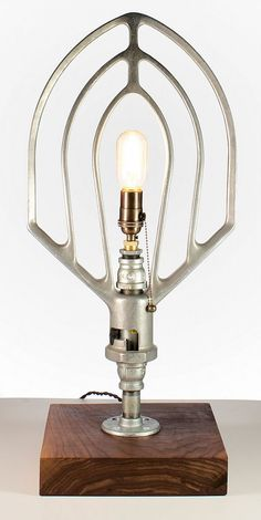 Mixer Beater lamp by Southern Restoration | Please subscribe to my weekly newsletter at upcycledzine.com ! #upcycle