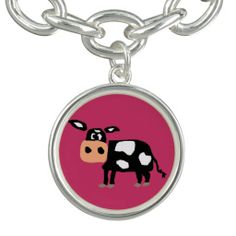 Black and White Cow Art Charm #cows #charms #animals #farm And www.zazzle.com/naturesmiles*