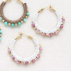 If you own precious jewelry such as diamond earrings, pendants, diamond rings, or other great precious jewelry items, you can keep these items for a lifetime if you look after them. Crochet Earrings Pattern, Crochet Jewelry Patterns, Crochet Accessories, Tiny Gold Hoop Earrings, Diy Tassel Earrings, Making Bracelets With Beads, Jewelry Making, Custom Jewelry, Handmade Jewelry