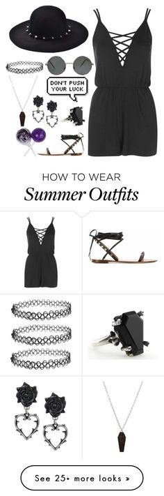 """Random outfit for summer i guess"" by cherry-demon on Polyvore featuring Topshop"