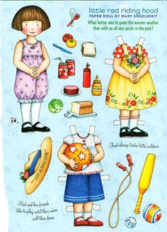 RESERVED FOR AUDREY Uncut Paper Doll by Mary Engelbreit Little Red Riding Hood