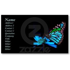 Butterfly in Blue Light Business Card by elenaind