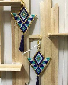 #uğurböceği #takı #tasarım #miyuki #boncuk #kolye #bilelik #elyapımı #handmade #mutluyumçünkü #instadaily #instamood #picoftheday #bymine #instabeauty #igdesign #designer #happy #love #bestoftheday #aksesuar #accessorize #photooftheday #smile #hediye #hediyelik #gift#küpe Brick Stitch Earrings, Seed Bead Earrings, Seed Beads, Drop Earrings, Bead Crochet Rope, Beading Projects, Beaded Jewelry, Bracelet Watch, Beadwork