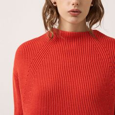 FWSS Getting Nowhere is a chunky sweater knitted from a beautifully soft wool. Slightly A-line shaped with a cowl neck and V-shaped detail at back. Fall Winter Spring Summer, Orange Sweaters, Winter Season, Cowl Neck, Turtle Neck, Wool, Detail, Shopping, Beauty