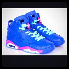 27881d09606 Jordan Shoes | Jordan 6 Retro Bt. Used. | Color: Blue/Pink | Size: 8g