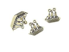 Qty 10 Pieces B16103 Sailboat Sailing Boat Ancient Antique Bronze Jewelry Making…