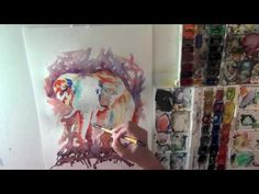 Elephant watercolour speed painting   Meg Hawkins Illustrations Speed Paint, Watercolour, Elephant, Illustrations, Painting, Art, Pen And Wash, Art Background, Watercolor Painting