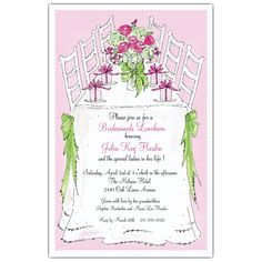 Bridesmaids Luncheon Invitations   PaperStyle