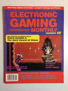 EGM 1990 #gaming #gamer #magazines Video Game Magazines, Gaming Magazines, Retro Video Games, Video Game Art, Rescue Rangers, Summer Special, School Games, Childhood Toys, Magazine Covers